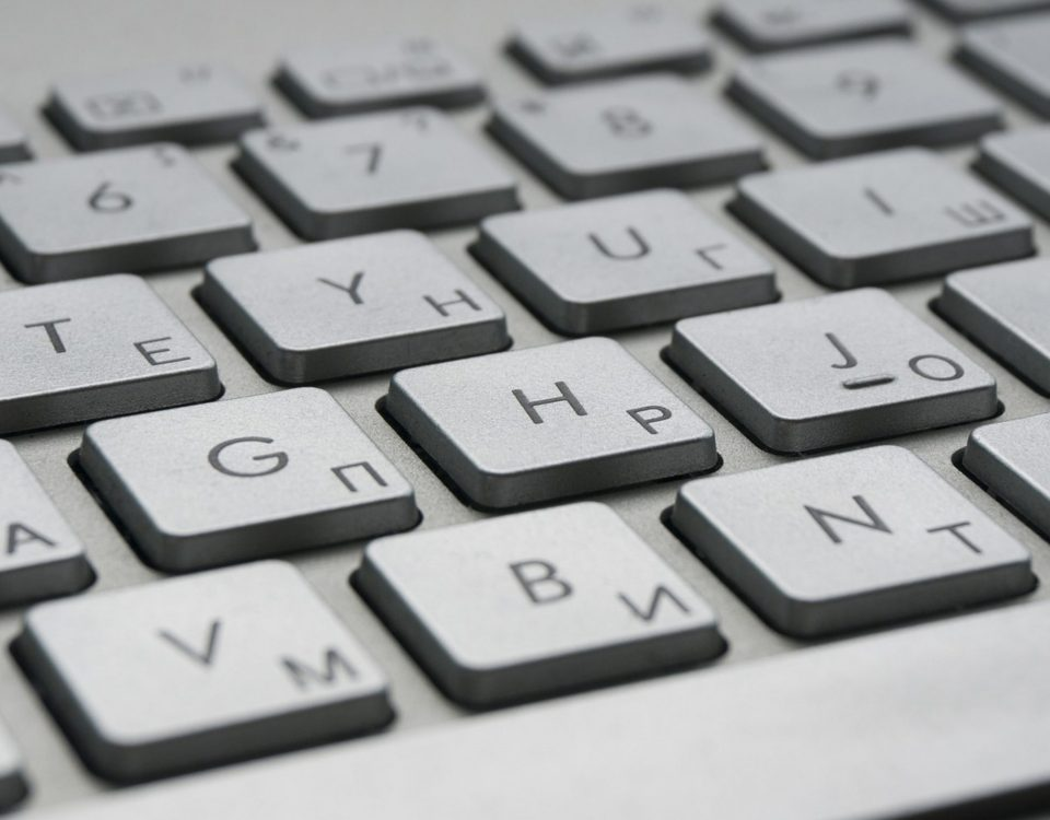 Keys of a Computer Keyboard in Close-up