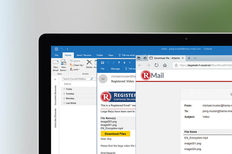 Automatic activation of LargeMail in Frama RMail