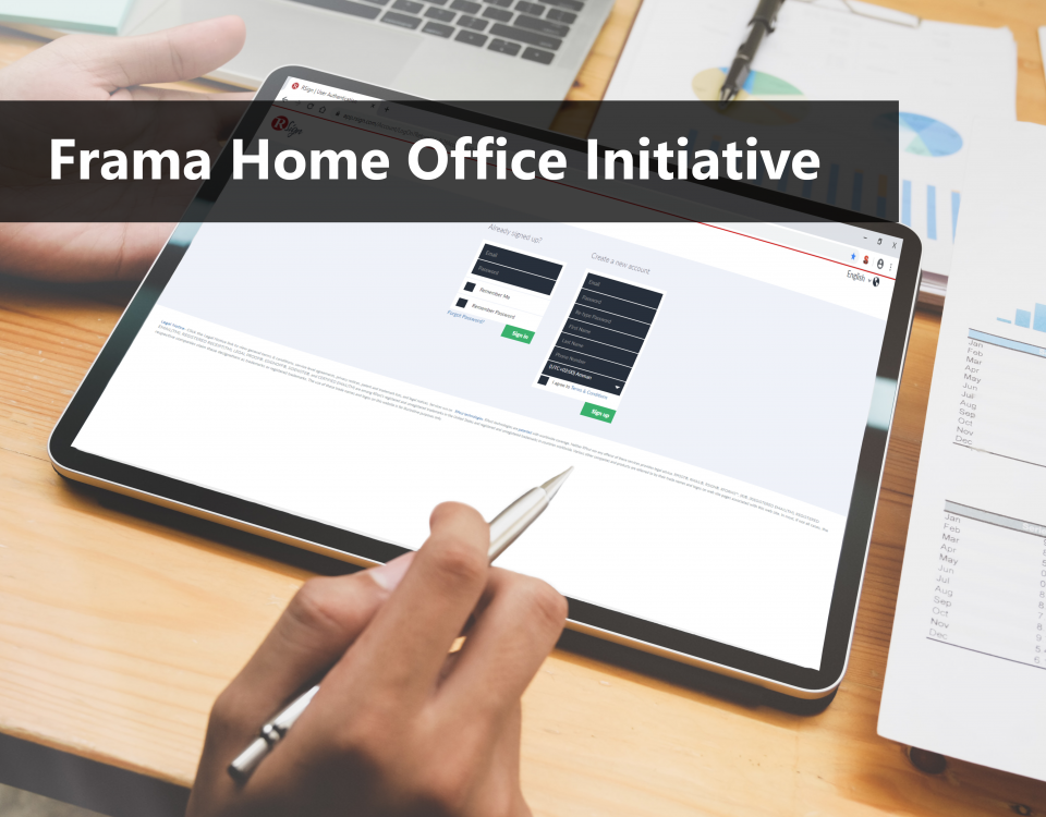 Electronic signature in the home office